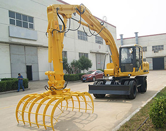 Wheel type hydraulic stacker